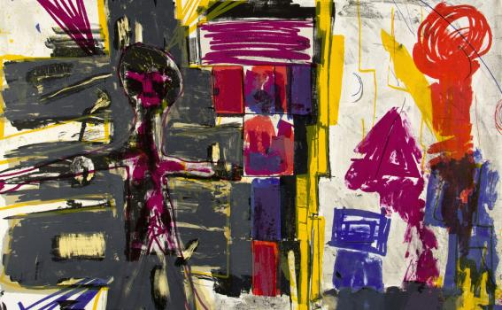 Joan Snyder (American, b. 1940), Can We Turn our Rage to Poetry? (detail), 1985