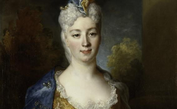 Nicolas de Largillière (French, 1656-1746), Marie Elisabeth Desiree de Chantemerle, Comtesse de Hergh (detail), 1715