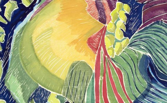 Aline Feldman (American, b. 1928), Hillside Unfurling (detail), 1995