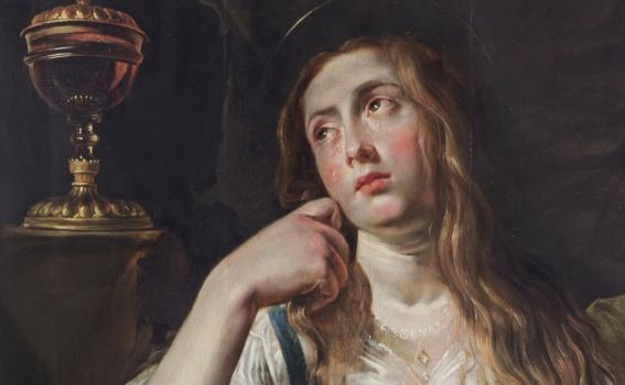Abraham Janssens (Flemish, ca 1575-1632), The Penitent Magdalene (detail), ca 1620