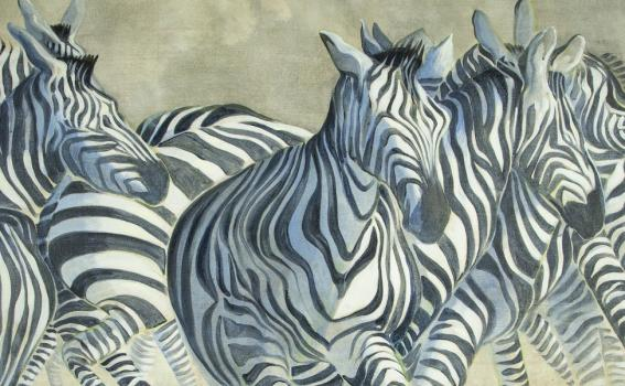 Ellen Lanyon (American, 1926-2013), Zebra, from the series Beyond the Borders (detail), 1996-2007