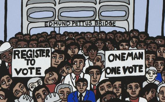 Faith Ringgold (American, b. 1930), Taxes on us Without our Consent (from the portfolio Declaration of Freedom and Independence) (detail), 2009