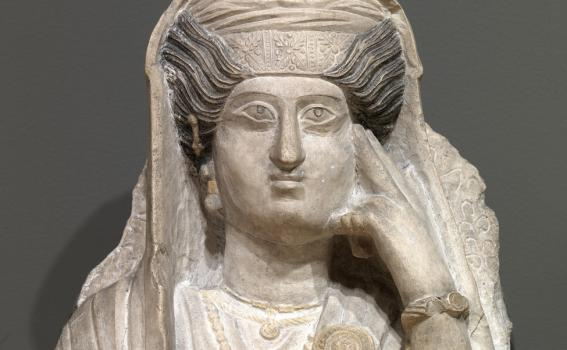 Maker Unknown (Roman), Funerary bust of a woman, 2nd-3rd century CE