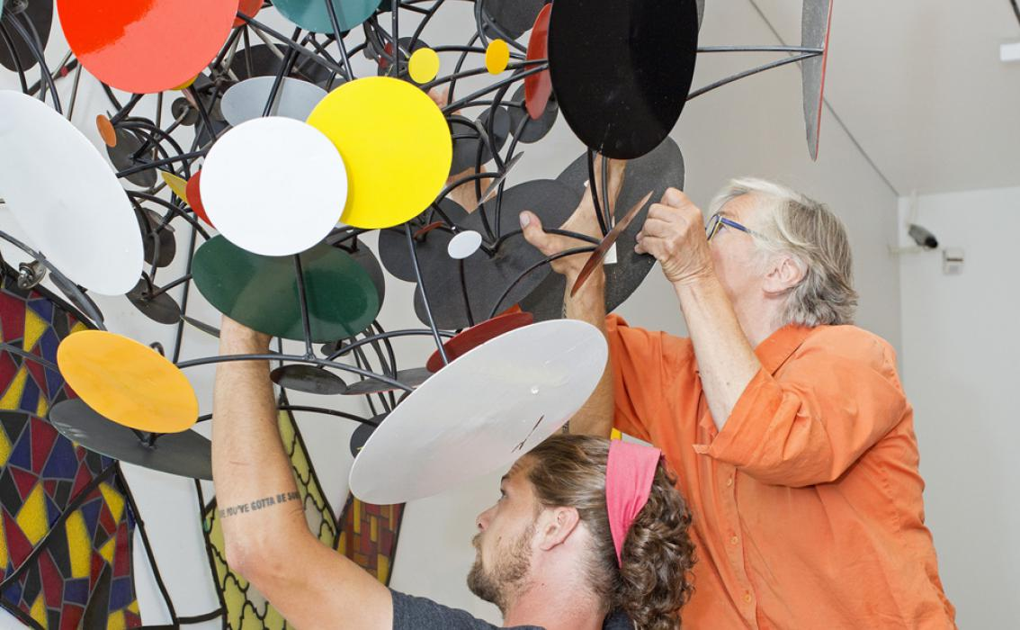 Judy Pfaff installation