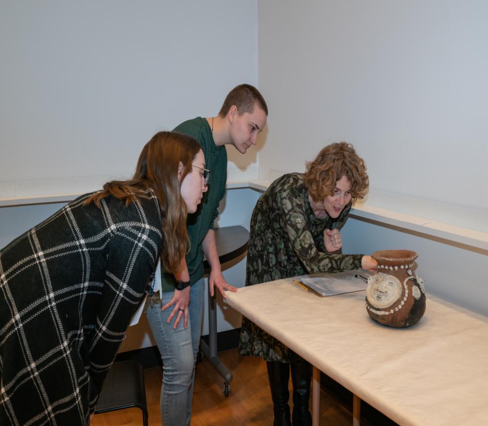 Sabra Thorner and students