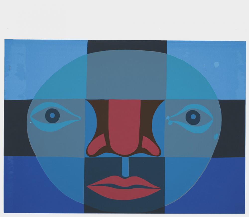 Faith Ringgold (American, b. 1930), Big Black, 2010, screen print