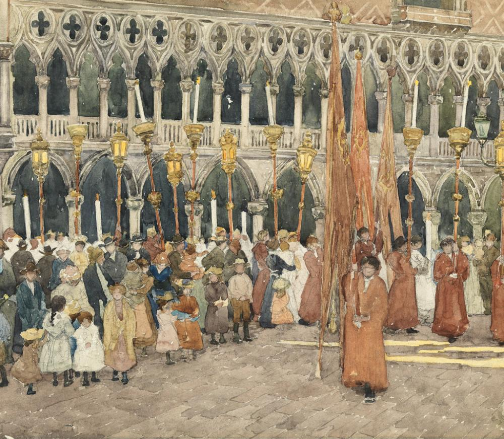 Maurice Brazil Prendergast (American, 1859–1924) Festival Day, Venice (detail)