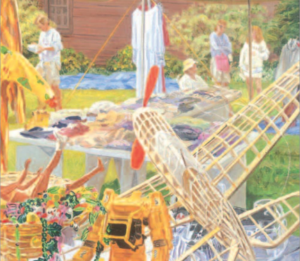 Janet Fish (American, b. 1938) Lawn Sale (detail), 2000