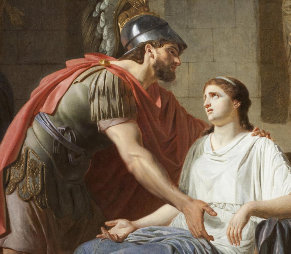 Etienne Aubry, Les Adieux de Coriolan à sa Femme au moment qu'il part pour se rendre chez les Volsques (detail)