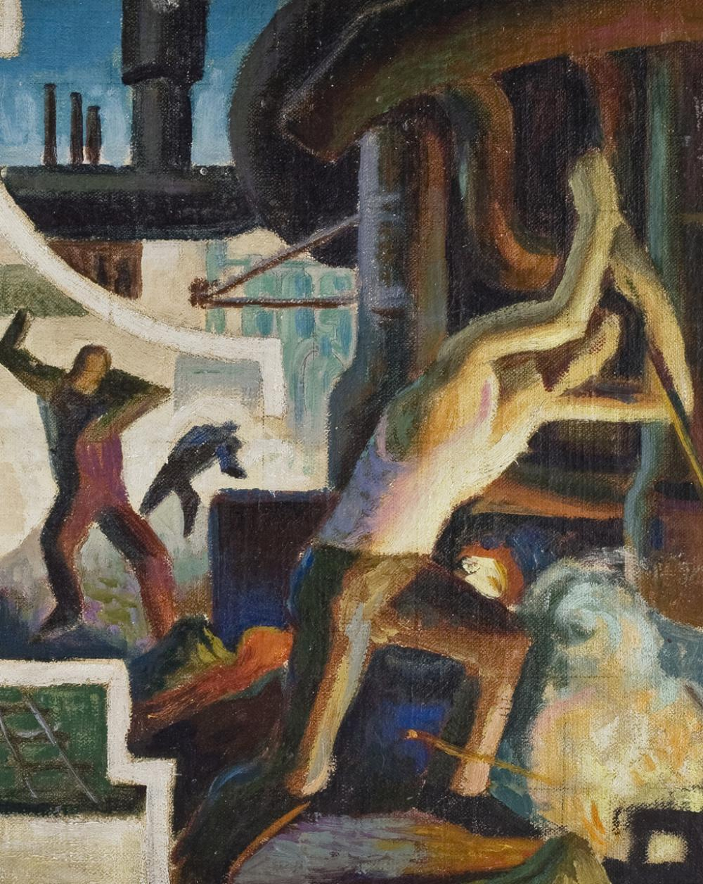 Thomas H. Benton (American, 1889-1975), Study for Steel from America Today, 1930
