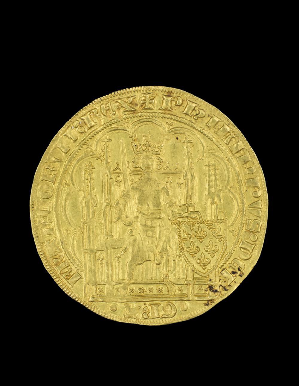 Maker Unknown (French), Écu d'or à la chaise of Philip VI, 1328-1350 CE