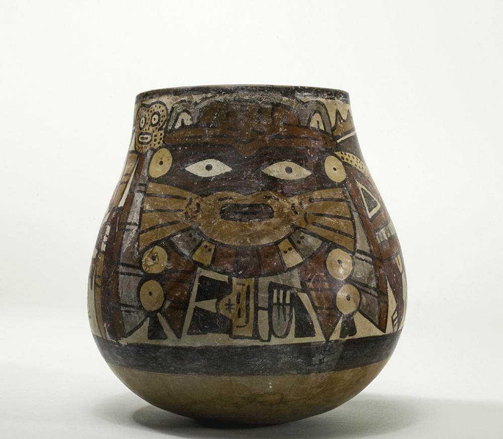 Maker Unknown (Peruvian; Nasca), Vessel with anthropomorphic being, 325-440 CE