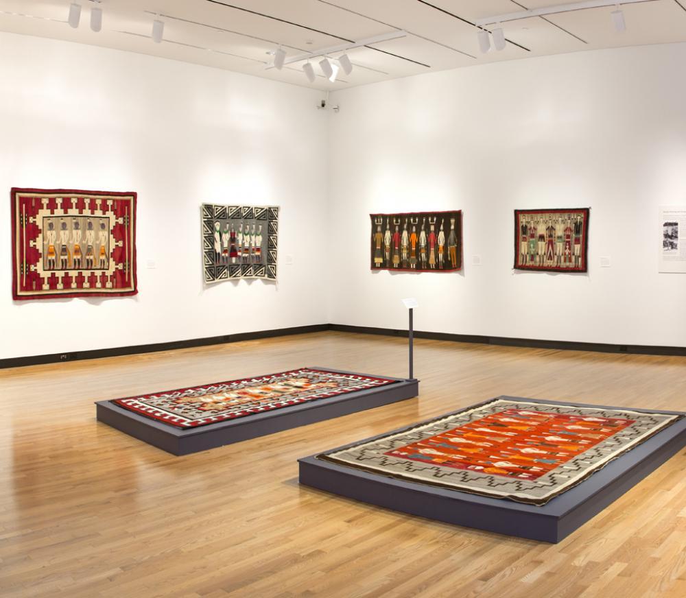 Dancers of the Nightway: Ceremonial Imagery in Navajo Weaving installation view