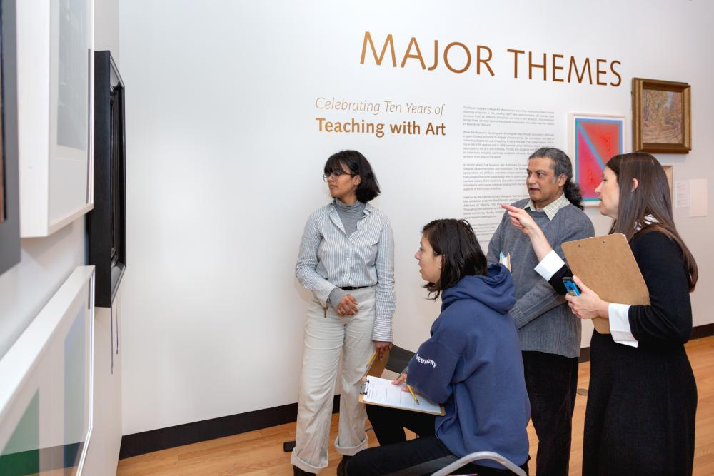 Professor Ajay Sinha's First Year Seminar at the Museum