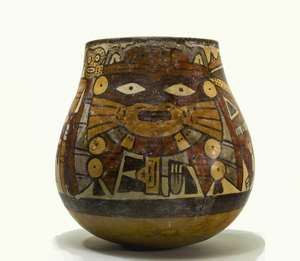Maker Unknown (Peruvian), Nasca Vessel with anthropomorphic being