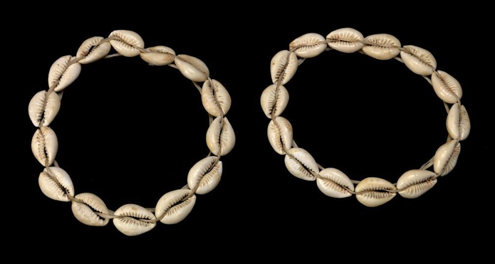 Egyptian, Pair of shell bracelets