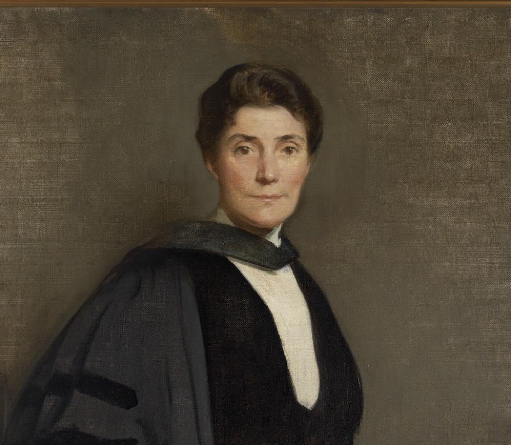 John White Alexander (American, 1856-1915), President Mary Emma Woolley (detail), ca. 1909