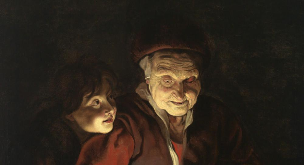 After Peter Paul Reubens (Flemish, 1577-1640), Night Scene with an Old Woman and a Boy, 1616-17