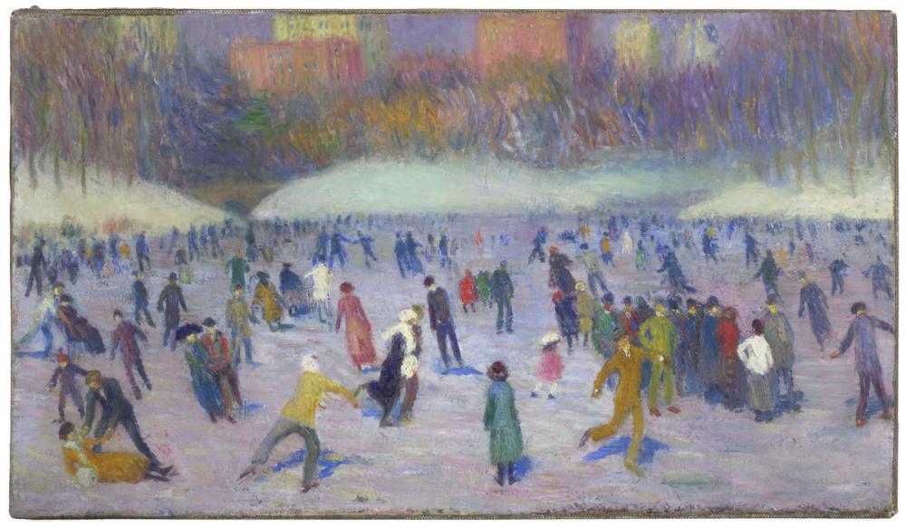 Glackens, William; Skaters, Central Park