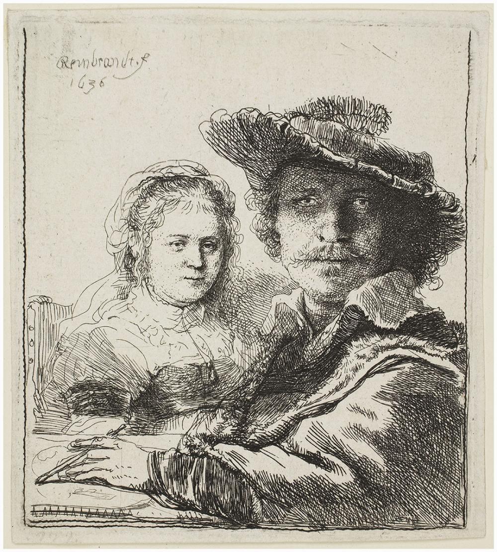 Rembrandt van Rijn, Self-Portrait with Saskia