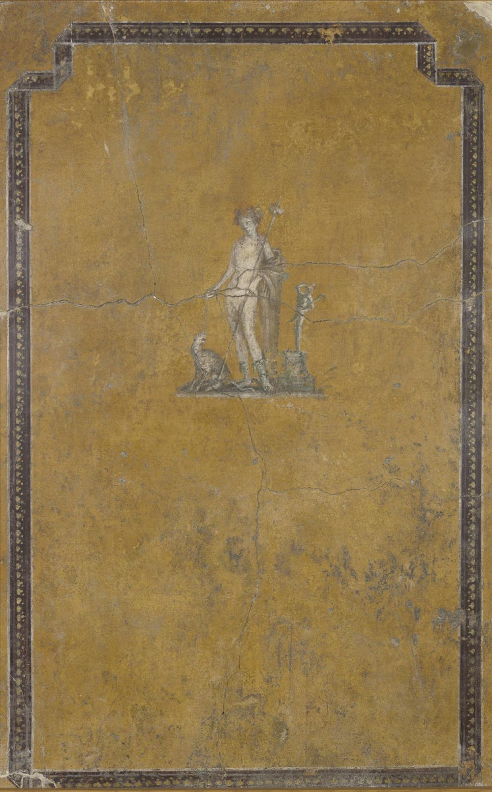 Roman, Fragment of a wall painting with Bacchus