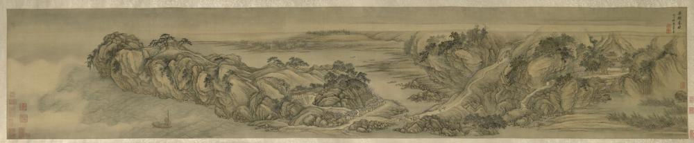 Wang Hui, Spring Dawn at Yanji [Rock of Swallows]