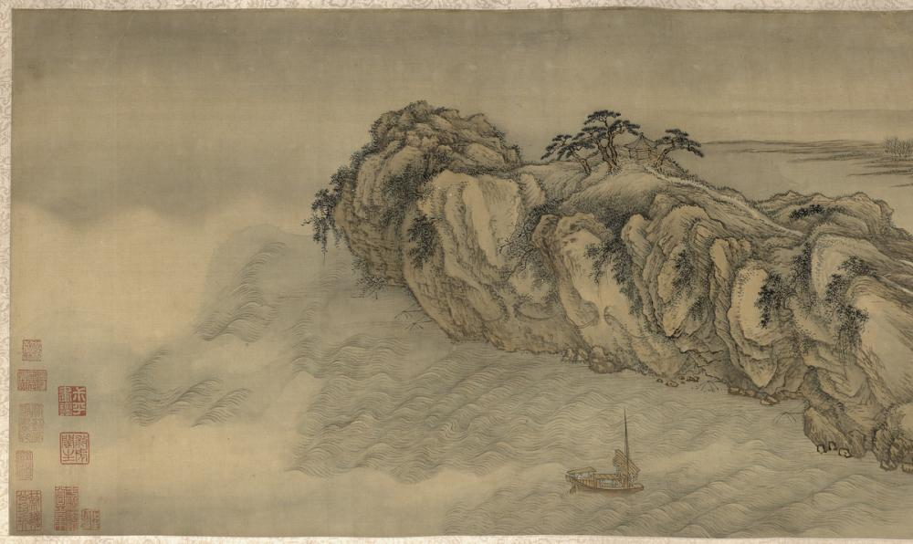 Wang Hui, Spring Dawn at Yanji [Rock of Swallows], ca. 1695 (Qing Dynasty)