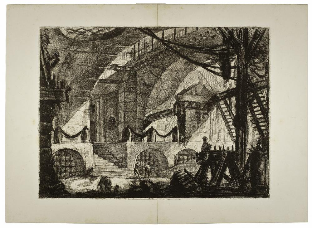 Piranesi, The Sawhorse, Plate XII from the series Carceri d'Invenzione