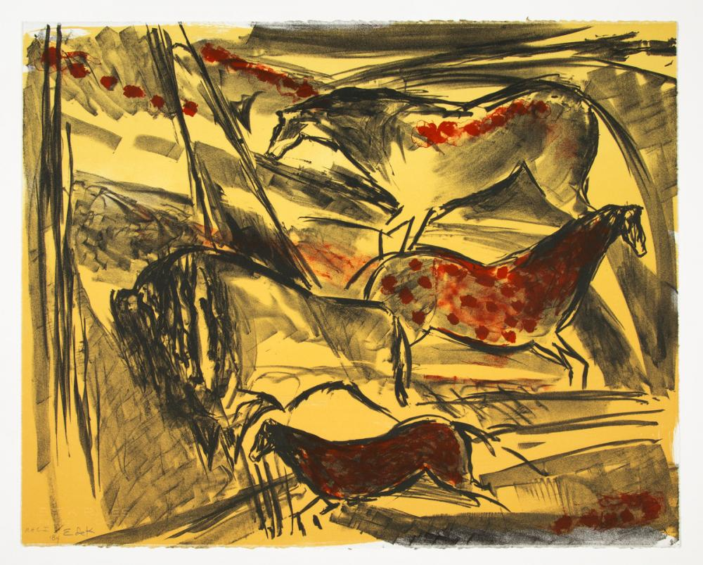 Elaine De Kooning, Untitled, from The Lascaux Series