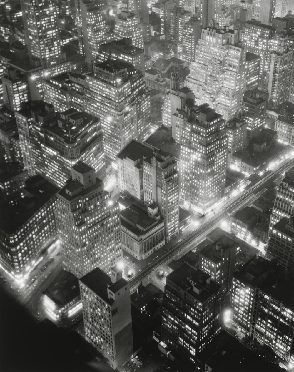 Berenice Abbott, Retrospective: Night View, New York