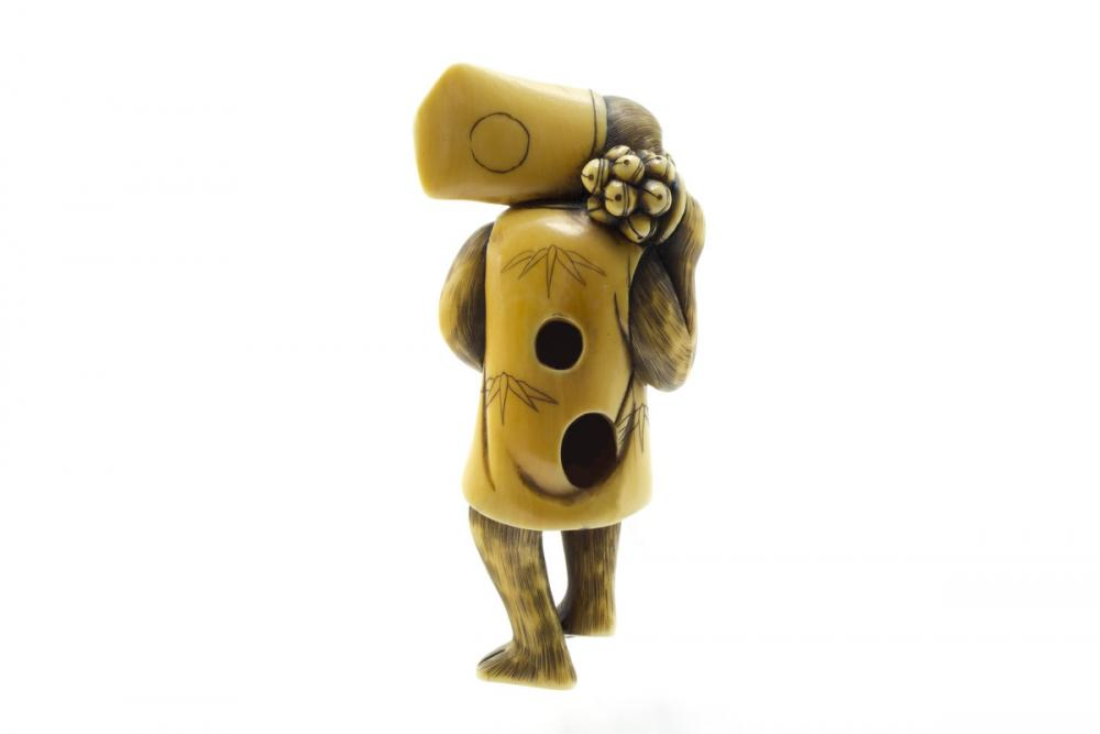 Japanese, Monkey as a sambaso dancer
