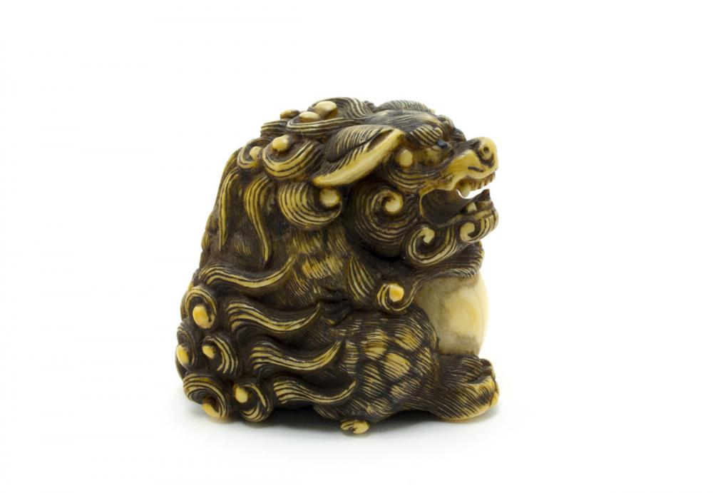 Japanese, Shishi with ball
