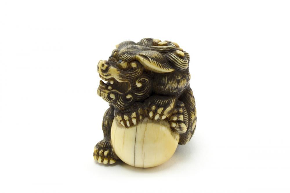 Japanese, Shishi with ball