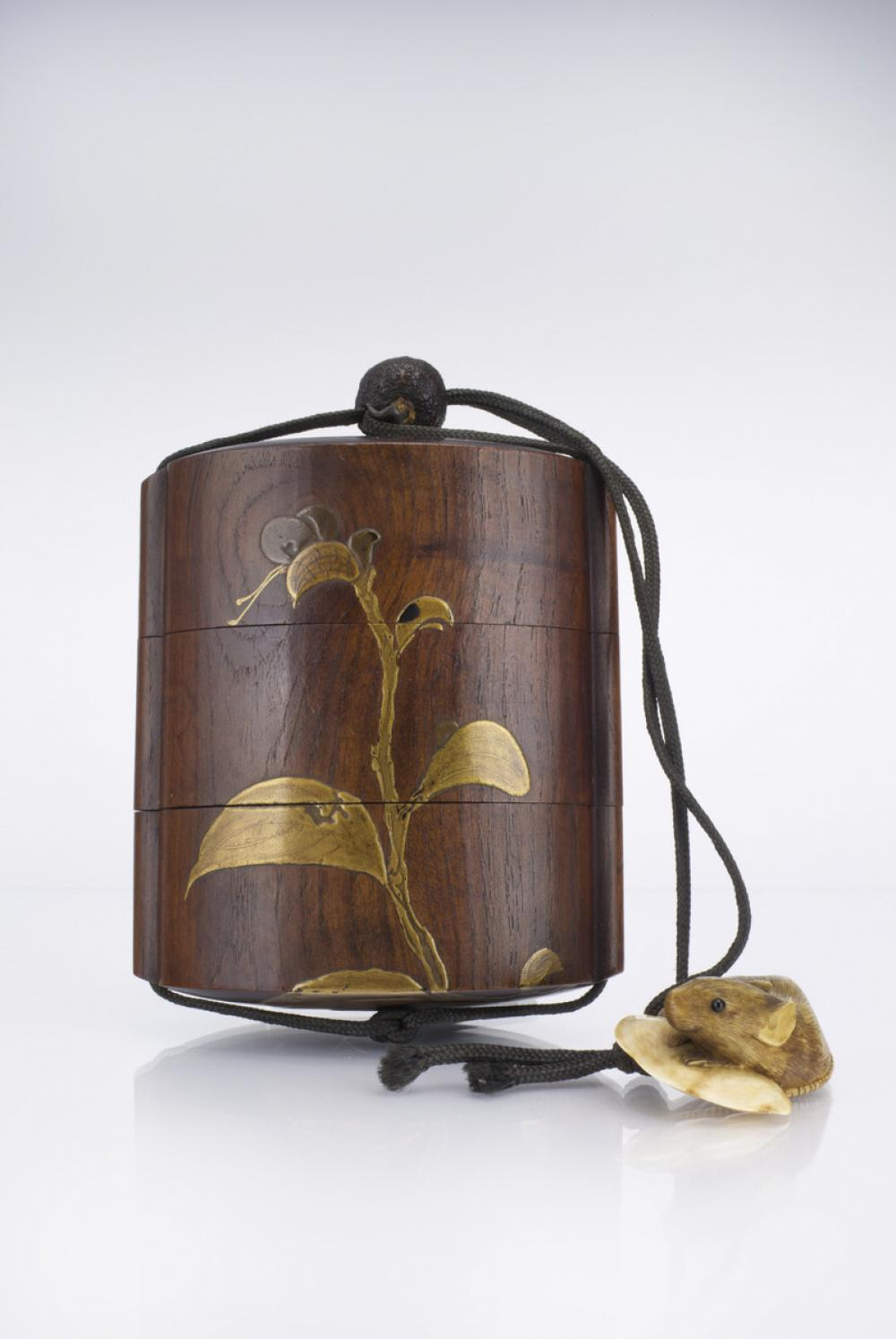 Maker Unknown (Japanese), Inro (three-part container) with lacquer work, 19th century