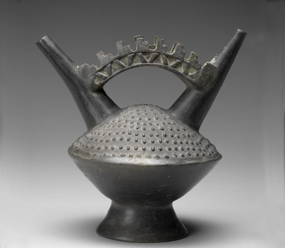 Maker Unknown (Lambayeque), Double spout and bridge vessel