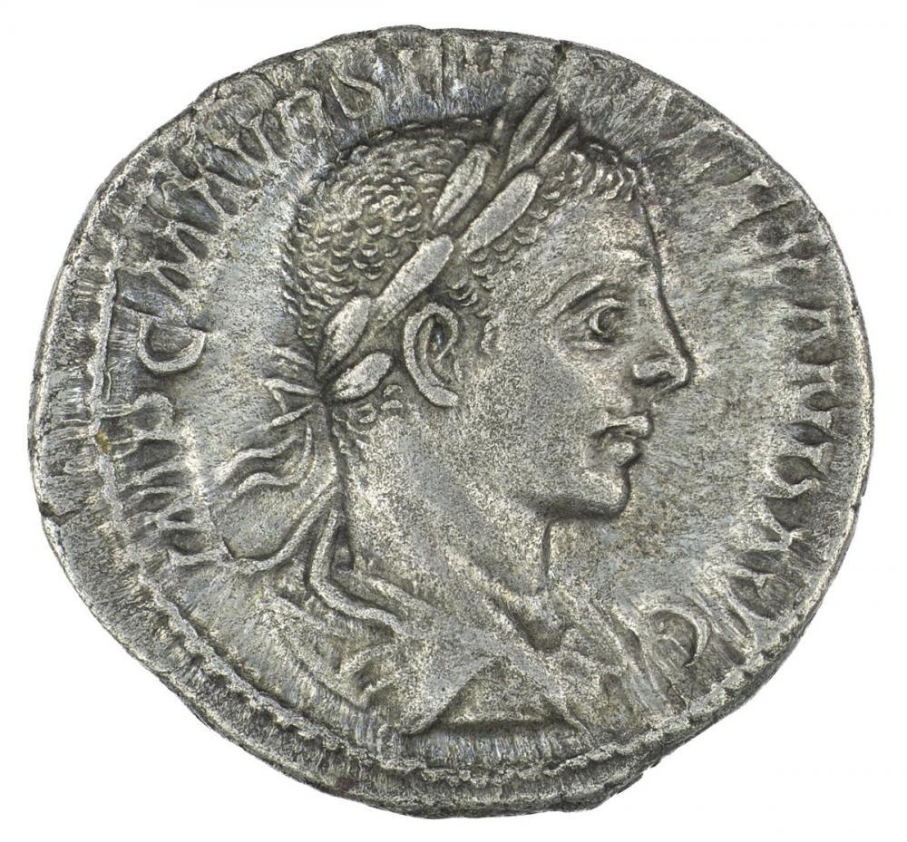 Roman, Denarius of Alexander Severus, obv.