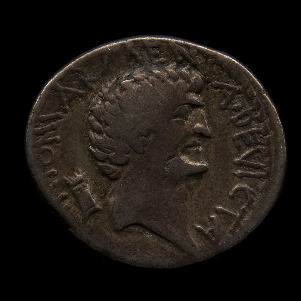Roman, Denarius of Cleopatra VII and Mark Antony