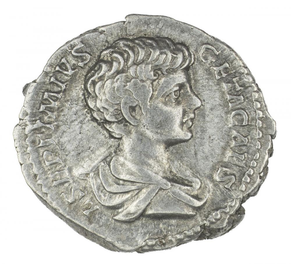 Roman, Denarius of Geta, recto