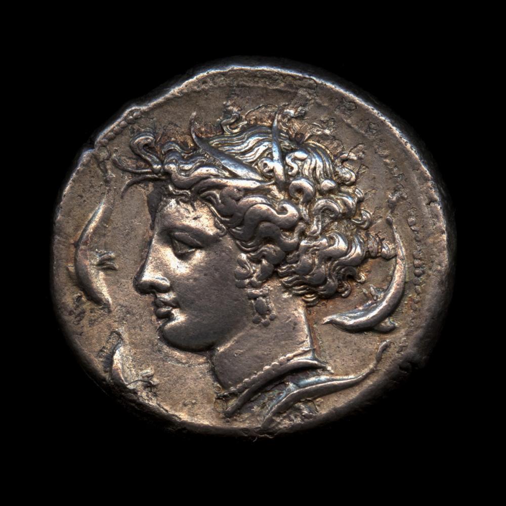 Siculo-Punic, Tetradrachm of Persephone-Tanit