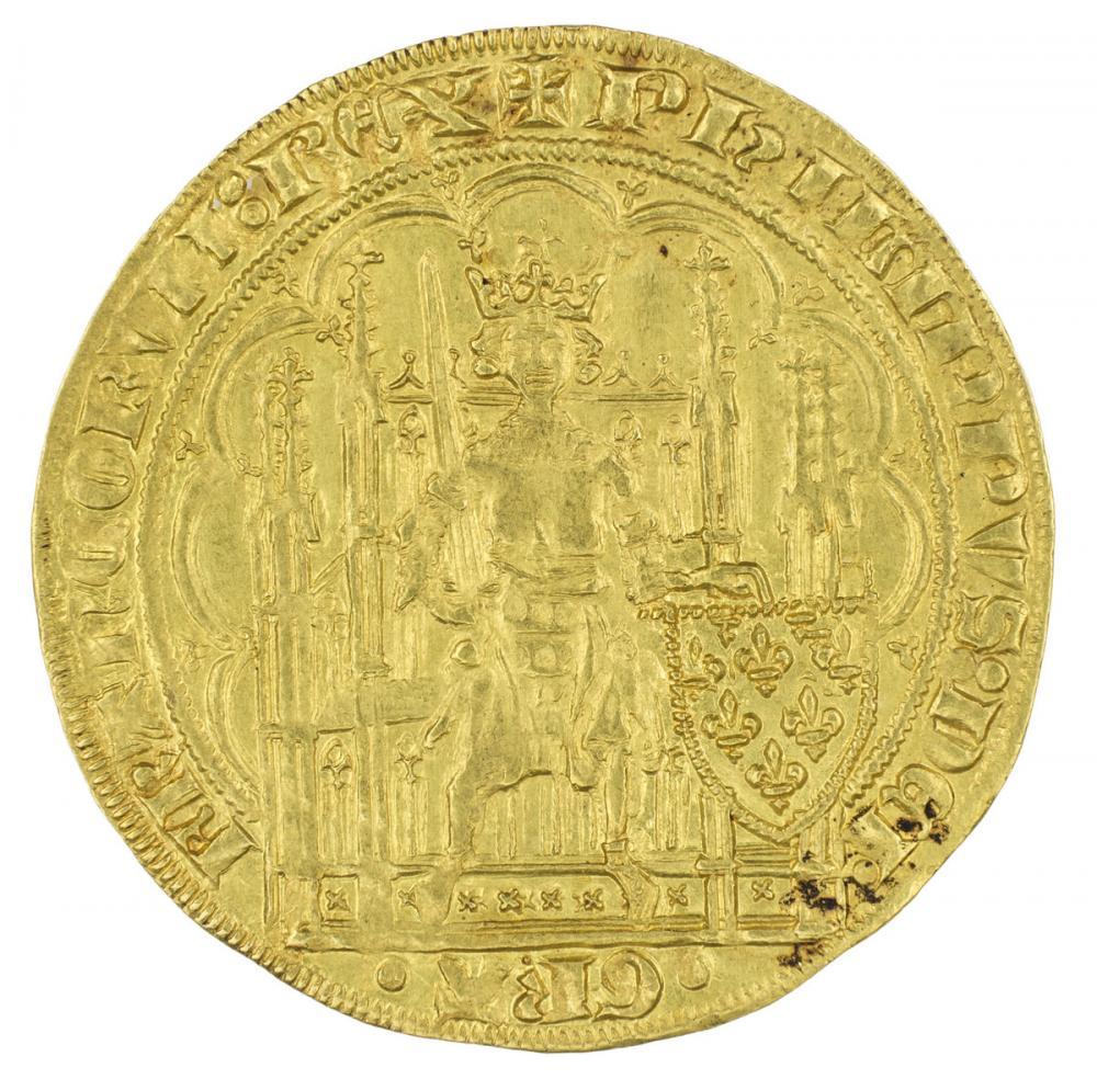 French, Écu d'or à la chaise of Philip VI