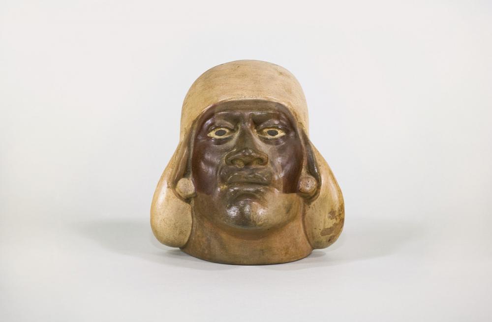 Moche, Portrait head vessel
