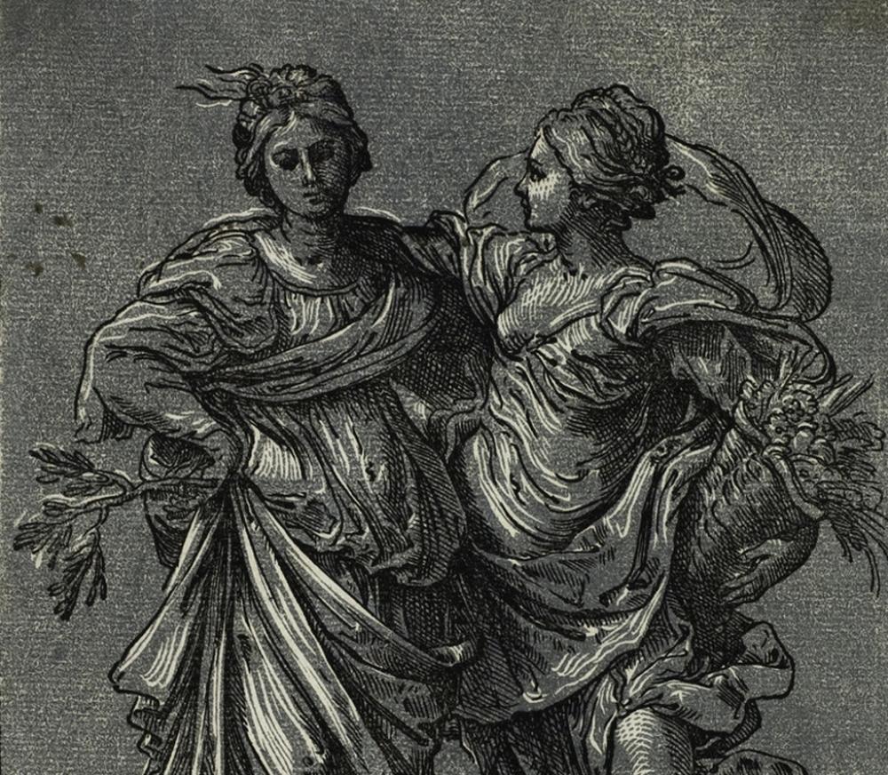 Bartolomeo Coriolano after Guido Reni, Allegory of Peace and Abundance, 1627