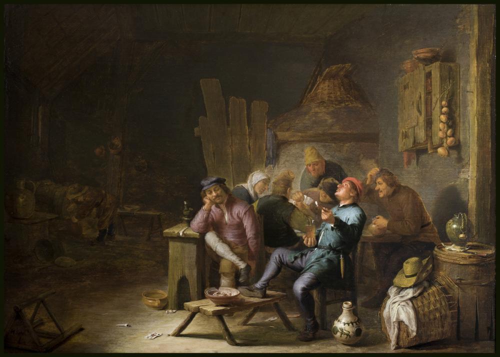 Sorgh, Hendrik Martensz., Inn Interior with Peasants