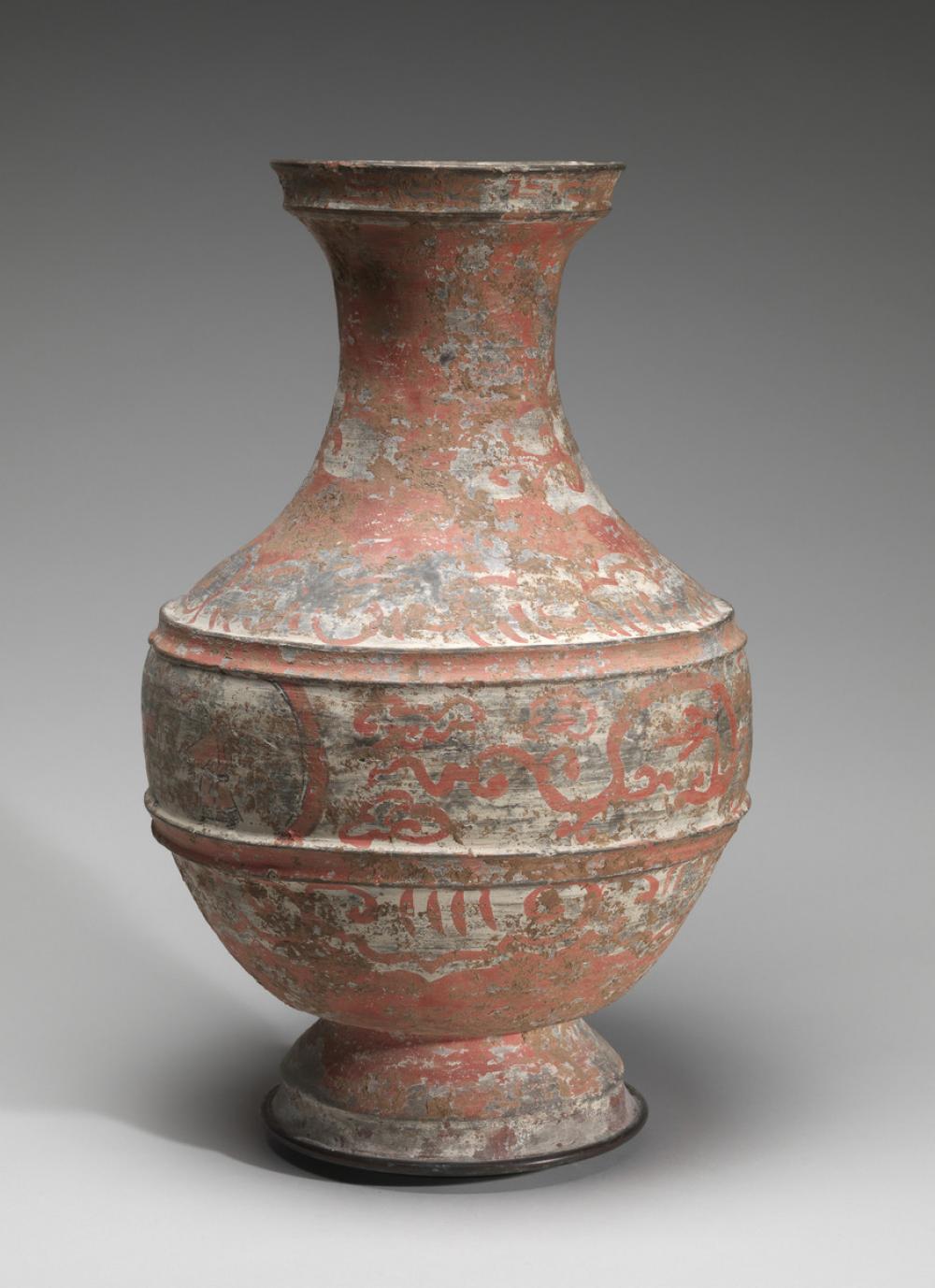 Chinese, Jar (hu) with chariot scene