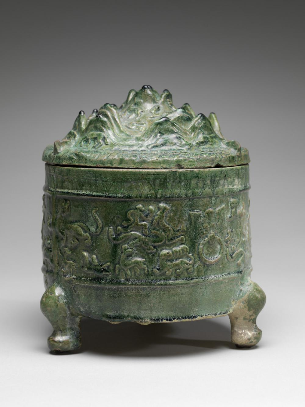 Chinese, Hill censer with lid