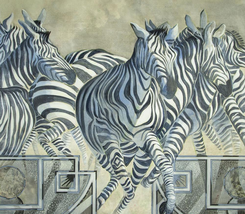 Ellen Lanyon (American, 1926-2013), Zebra (detail), from the series Beyond the Borders