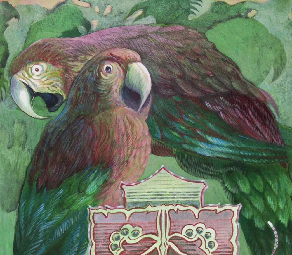 Ellen Lanyon (American, 1926-2013), Macaws (detail), from the series Beyond the Borders