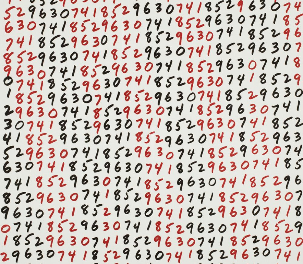 Mel Bochner (American, b. 1940), Endpapers from On Certainty (detail), 1991