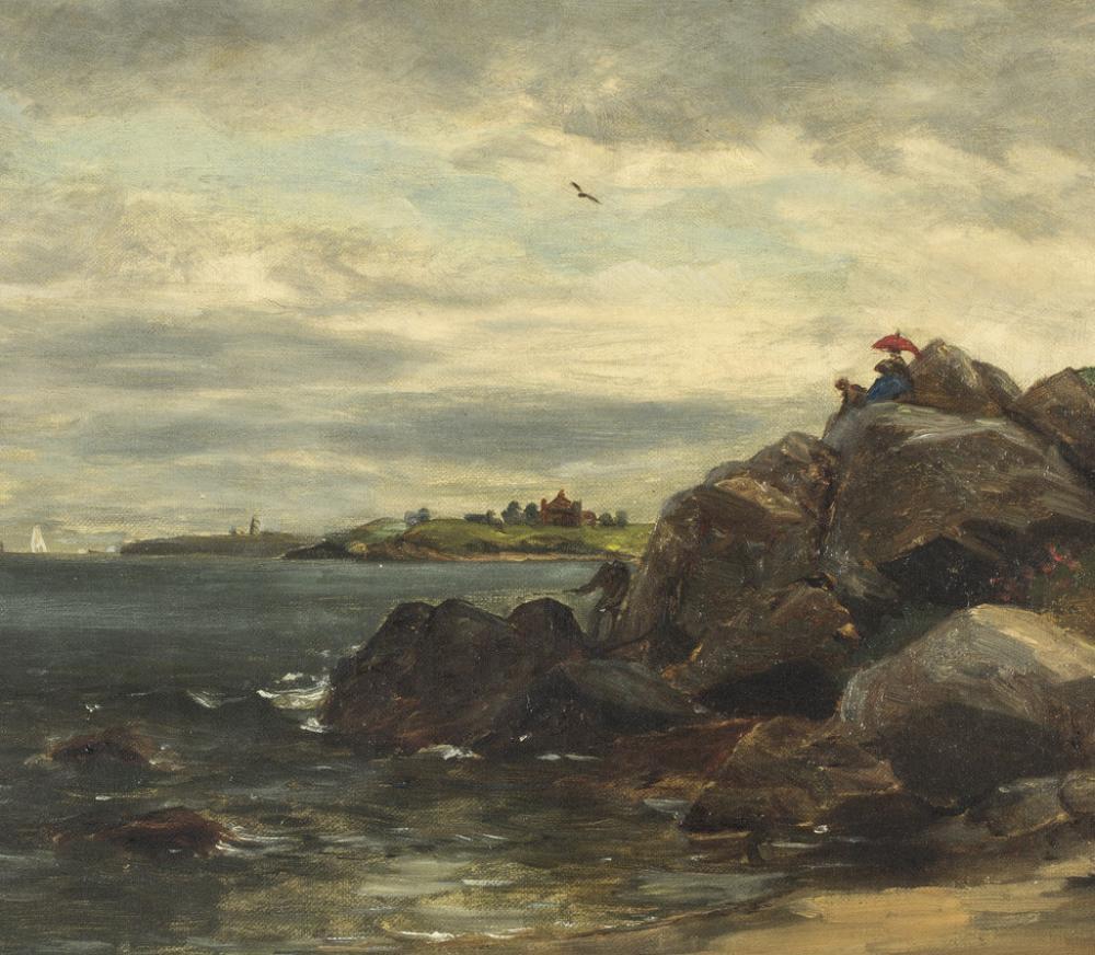 Edward Mitchell Bannister (American, born in Canada, 1828-1901), Untitled [Rhode Island Coastal Scene] (detail), ca. 1885-1889