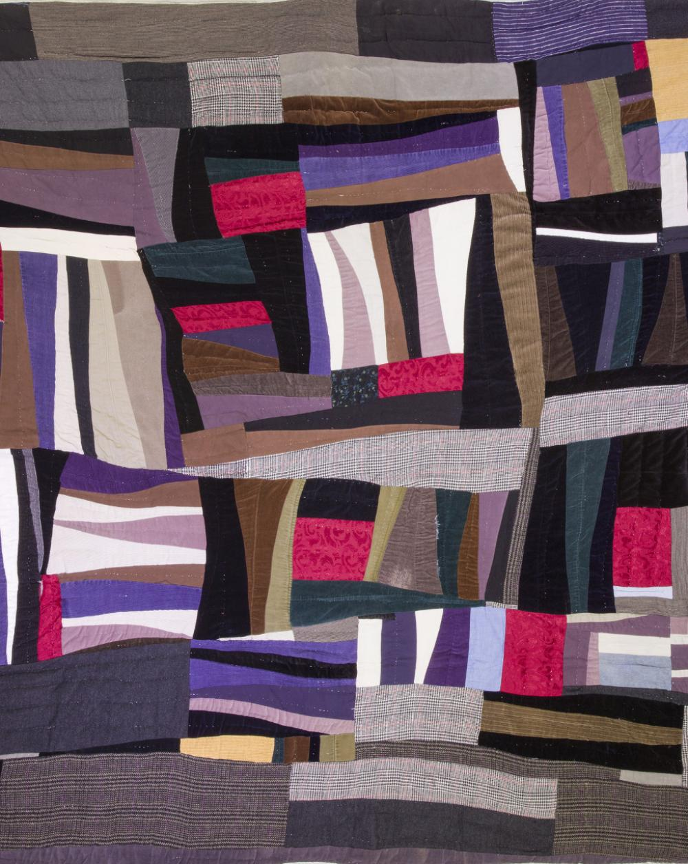 Mary Lee Bendolph (American, 1935- ), Husband Suit Clothes (Housetop Variation) (detail), 1990